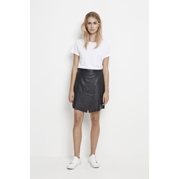Marvel leather skirt