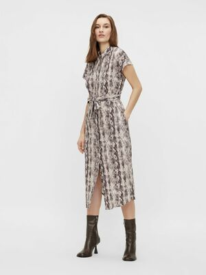 Hannah palm shirt dress