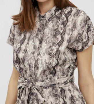 Hannah palm shirt dress