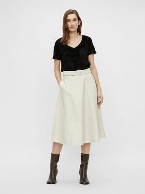 Love leather midi skirt