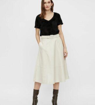 Love leather midi skirt