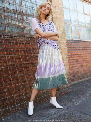 Metalline skirt
