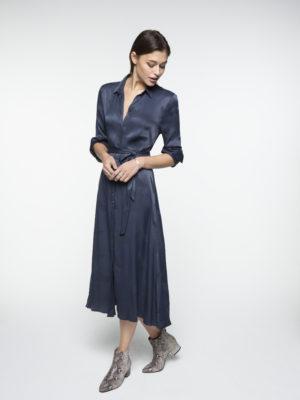 Craneprint shirt dress