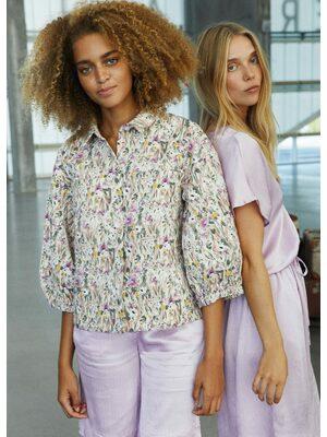 Flower quilt jacket
