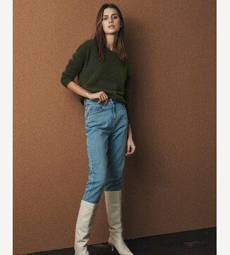 Crystal Mom jeans Blauw